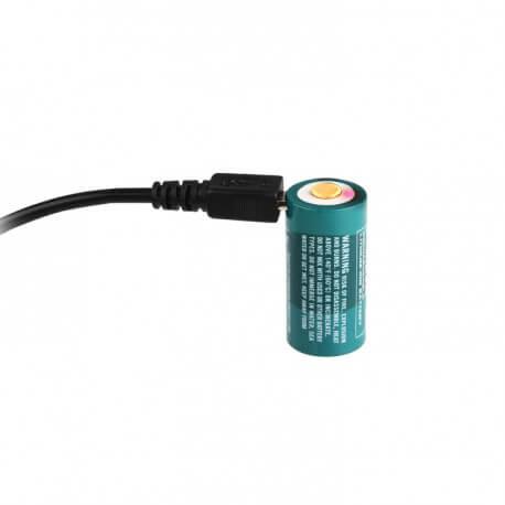 Olight RCR123A / 16340 Micro USB Battery
